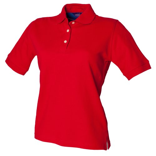 Henbury Ladies Cotton Shirt, Polo para Mujer Lila