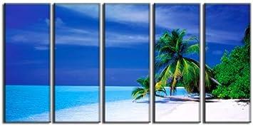 Tropical beach canvas print seascape canvas art prints beach wave canvas print