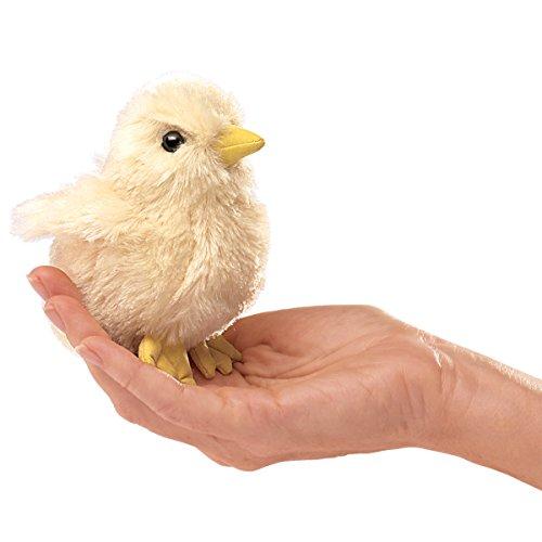 Folkmanis Mini Chick Finger Puppet (Book Owl Puppet Little Finger)