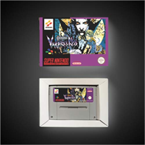 Game card Castlevania Vampire's kiss - EUR Version Action Game Card with Retail Box Game Cartridge 16 Bit SNES