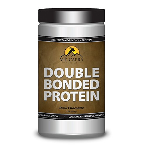 Mt Capra: Double Bonded Protein (1 lb, Dark Chocolate) Goat Milk Protein With Natural Blend of Casein and Whey From Grass-fed Goats Build Muscle Digestible Organic and Natural Ingredients  Review