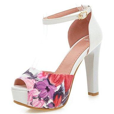 YFF Sandales femmes chaussures printemps été Gladiateur Club similicuir Mariage & soirée robe Talon,Boucle rouge rose,US9 / EU40 / UK7 / CN41