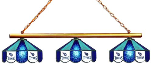 (Imperial Officially Licensed NFL Merchandise: Tiffany-Style Stained Glass Billiard/Pool Table 3 Shade Light, Tennessee Titans)