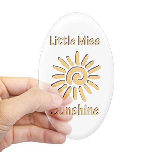 CafePress Little Miss Sunshine Oval Sticker Oval Bumper Sticker, Euro Oval Car Decal