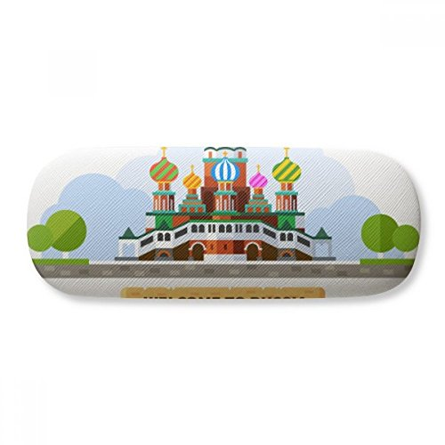 Russia Cathedral Pattern Illustration Glasses Case Eyeglasses Clam Shell Holder Storage Box by DIYthinker