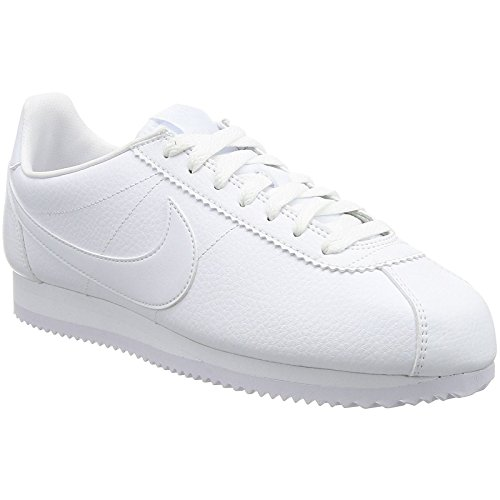 Nike Classic Cortez Leather Lifestyle Fashion Sneakers All White New 749571-111 - 12 (Cortez White Nike Mens)