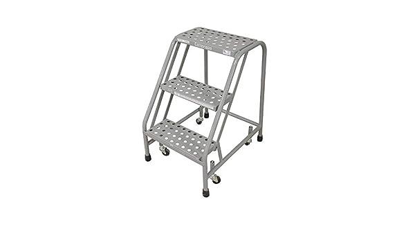 Cotterman 1003N1820A6E10B3C1P1 escalera de seguridad de acero enrollable, todo soldada, lista para usar, 3 pasos, 30 pulgadas de altura superior, peldaños perforados por forma, 450 libras de capacidad: Amazon.es: Deportes y aire libre