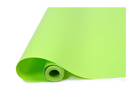 JINDIN Kitchen Shelf Liner Refrigerator Pad Anti-fouling Pad Home Wardrobe Cabinet Drawer Liner Non-Adhesive Table Mats Can Be Cut Size 17 Inch Wide 59 Inch Long Green Vinyl Anti Static Chair Mat