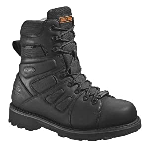 Harley-Davidson Men's FXRG-3 Waterproof Black Leather Boots D98304 Size 12