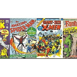 Marvel Comic Books Wallpaper Border With 15 Covers