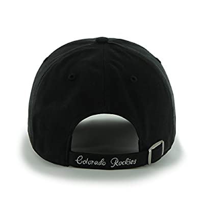 MLB Colorado Rockies Sparkle Adjustable Hat, Womens, Black