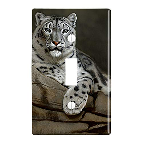GRAPHICS & MORE Snow Leopard on Ledge Plastic Wall Decor Toggle Light Switch Plate Cover