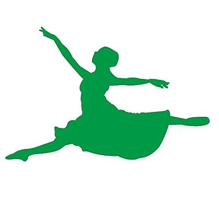 yiyiyaya Vinilo Saltando Bailarina de Ballet Silueta Tatuajes de ...