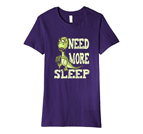Tired Student Costume (Womens Zombie Premium Shirt Tired T Rex Dinosaur Apparel Costume XL Purple)