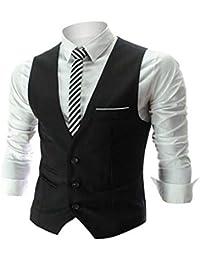 Mens Top Designed Casual Slim Fit Skinny Dress Vest Waistcoat