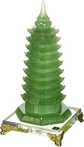 StealStreet SS-MU-PAG601 10.75 Inch Green Pagoda Tower