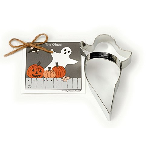 Ghost Cookie and Fondant Cutter - Ann Clark - 5.6 Inches - US Tin Plated (Scary Halloween Fruit Platter)