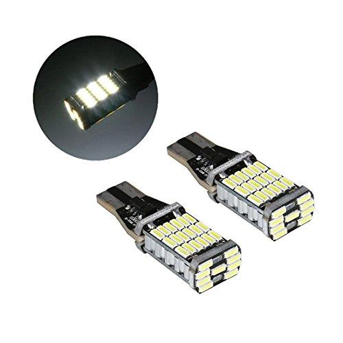 2 Pcs T10 Led Bulb Super Bright 1000Lm 6000K Led Canbus Error Free 912 921 T10 T15 AK-4014 Led Bulbs for Backup Reverse Lights 45 Pcs Chipsets