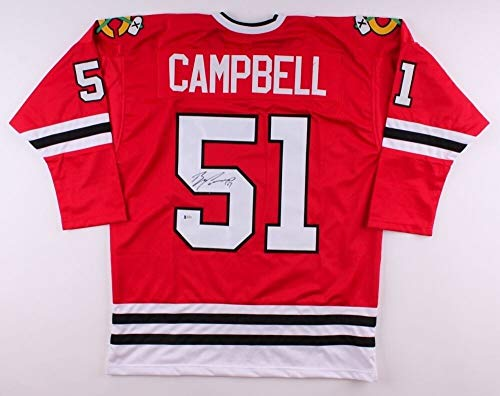 Brian Campbell Autographed Signed Blackhawks Jersey Beckett Playing Career 1999 present - Certified Signature