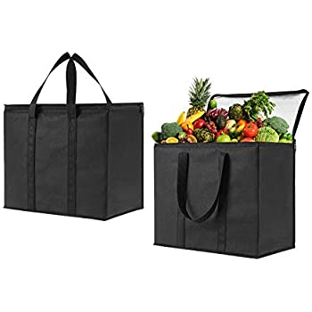 Amazon com: NZ Home XL Insulated Reusable Grocery Bags, Sturdy