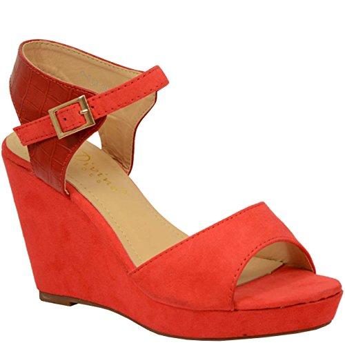 Cucu Fashion - Zapatos de tacón  mujer Rojo - rojo