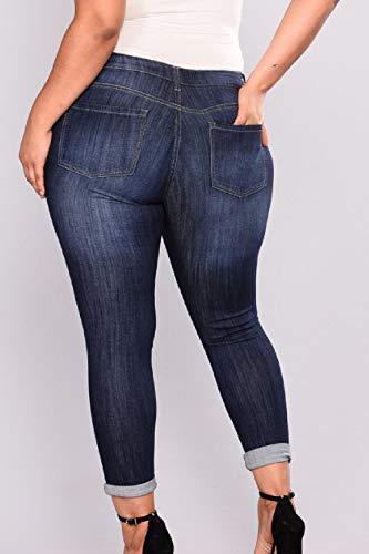 Con Tasca Taglia Donne Blu Strappati Le Yulinge Destoryed Jeans q6TzwPTfp