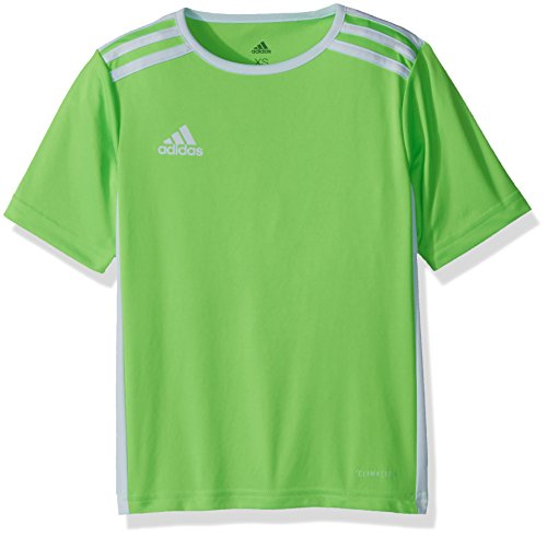 52e0c670af9 adidas Youth Entrada 18 Jersey, Solar Green/White, Large