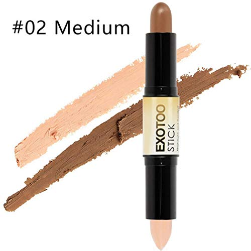 Aelove Double Head High-Light and Contour Stick Grooming Face Cosmetic Bronzers & Highlighters