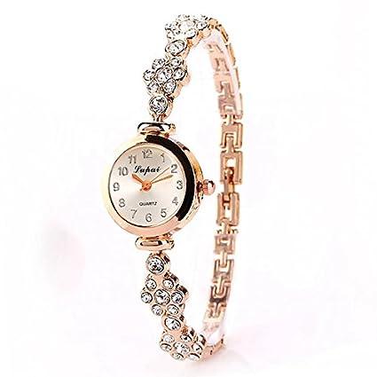 Reloj de Pulsera de Cuarzo de Diamantes de Imitación para Mujer Reloj Analógico Reloj de Pulsera