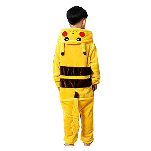 Kids Animal Pajamas Onesie - Hoodies Romper Outfit Cosplay Sleepwear for Unisex Children at Daily and Holiday, Pikachu Style, Height 130 cm]()