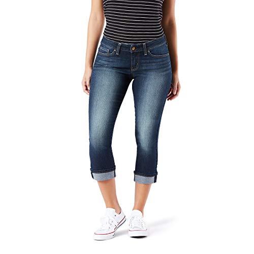 (Signature by Levi Strauss & Co Women's Mid-Rise Slim Fit Capris, Splendor, 10)