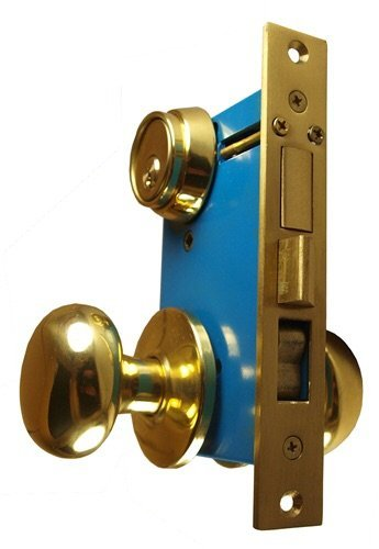 Maxtech Heavy Duty ORNAMENTAL Iron Gate Double Cylinder Mortise Lockset 2-1/2