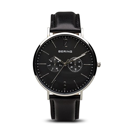 BERING Time 14240-402 Men Classic Collection Watch with Calfskin Strap and scratch resistent sapphire crystal. Designed in Denmark