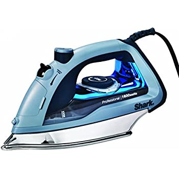 GI505 1800 Watts Shark Professional Steam Iron Auto-Shut Off and Stainless Steel Soleplate Gold SharkNinja Garment Steamer with Fabric Selector