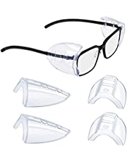 2/4/6/10 Pairs Glasses Side Shields for Eyeglasses,Safety Glasses with Side for Eye Protection-Fits Small to Medium Eyeglasses (2)