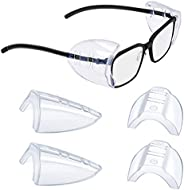 2/4/6/10 Pairs Glasses Side Shields for Eyeglasses,Safety Glasses with Side for Eye Protection-Fits Small to M