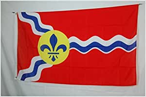 City of St Louis Louisiana State 3x5 Flag Banner