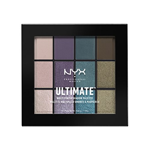 NYX PROFESSIONAL MAKEUP Ultimate Multi-Finish Shadow Palette, Smoke Screen, 0.48 Ounce