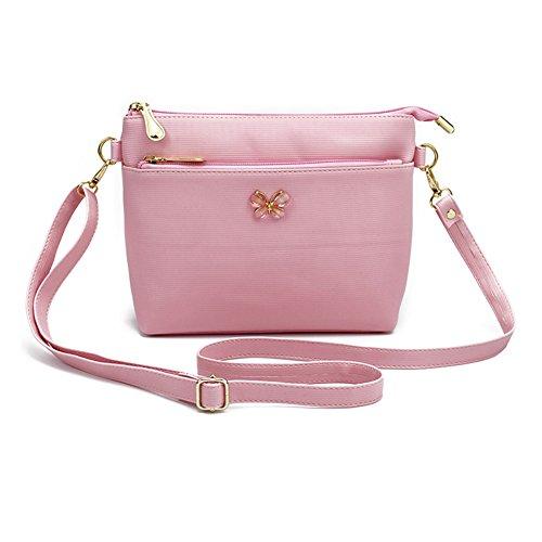 lindas de Crossbody de Bolso pequeño Bowknot Espeedy bolso rosa Messenger de PU de hombro las bolso cuero Bolsos mujeres muchachas la S5xqZgw