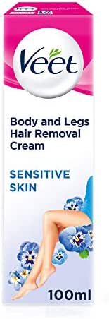 Veet Hair Removal Cream Sensitive Skin with Aloe Vera & Vitamin E (100ml)