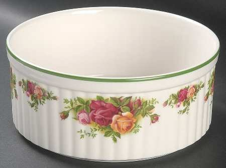 ROYAL ALBERT OLD COUNTRY ROSES -SOUFFLEE DISH L/S - UK MADE by Old Country Roses