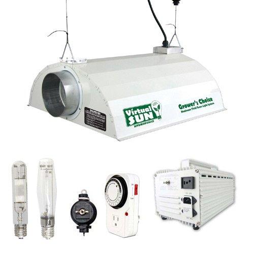 Magnetic Ballast - Virtual Sun 600W HPS MH Grow Light Hood Reflector Magnetic Ballast Kit 600 Watt