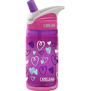 CamelBak Kids Eddy Insulated Water Bottle, 0.4 L, Pink Hearts