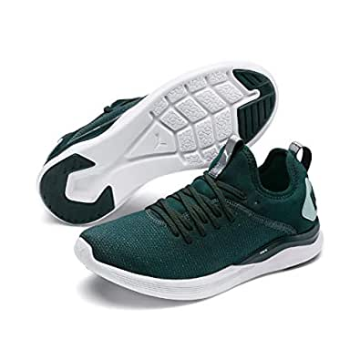 PUMA Women's Ignite Flash Evoknit SR WN's Sneaker, Ponderosa Pine-fair Aqua, 6 US