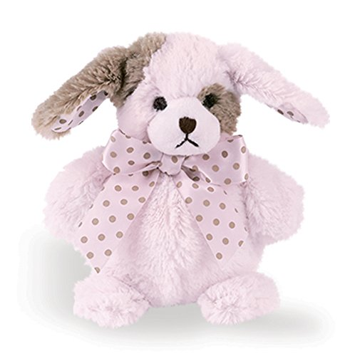 Bearington Baby Puffy Plush Stuffed Animal Puppy Dog, 6 in