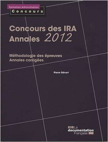 En ligne téléchargement Concours des IRA : Annales 2012 pdf