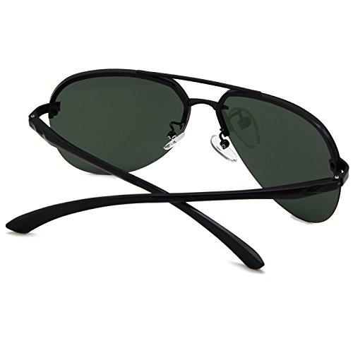 Montura De Hombre Completo Aviador Clásico Oscuro Y Gafas Verde Mujer Polarizadas Reflejado Para Metal AMZTM Lentes Doble Puente Sol Moda q6vZwxdnX