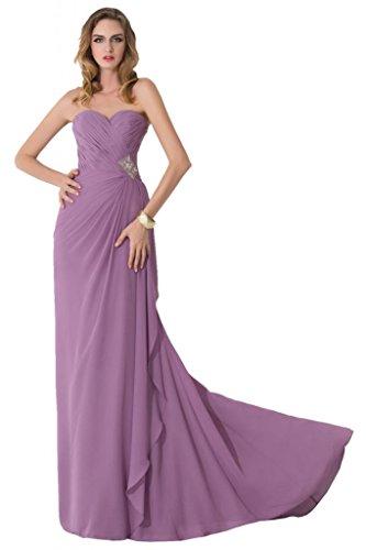 sunvary Trailing plisada volantes appliques elegante dama Prom Fiesta lila
