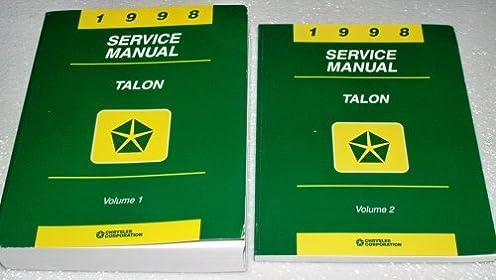1998 eagle talon factory service manual 2 volume complete set rh amazon com Clymer Manuals Auto Mobile Manuals