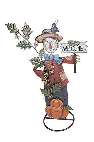 YK Decor Metal Scarecrow Yard Stake